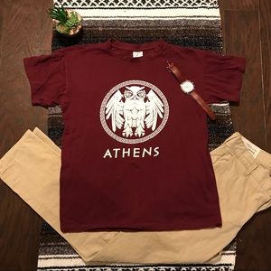 Other - Maroon Athens Tee